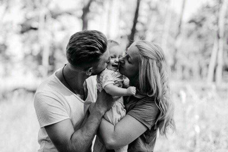 Schwarz weiß Bilder Familie
