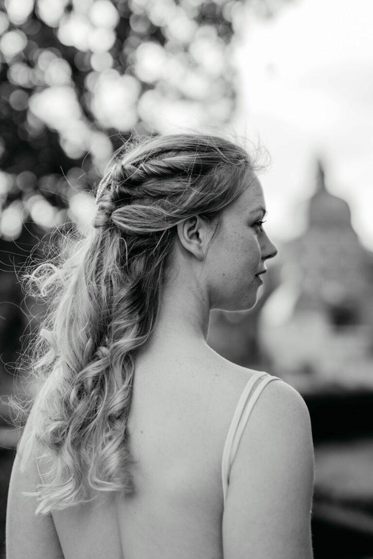 schwarz weiß Braut Portraits